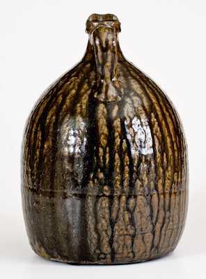 Extremely Rare Crawford County, GA Alkaline-Glazed Stoneware Syrup Jug