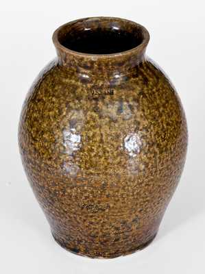 J.S. NASH, Marion County, TX Stoneware Jar