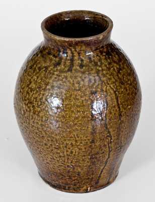 Rare J. S. NASH, Marion County, Texas Alkaline-Glazed Stoneware Jar