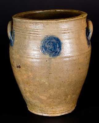 Rare attrib. Xerxes Price (New Jersey) Stoneware Man-in-the-Moon Jar