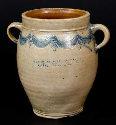 COMMERAWS STONEWARE Jar, Thomas Commeraw, New York City, c1800