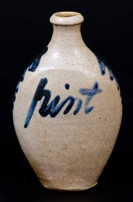 Fine Baltimore Stoneware Flask Inscribed