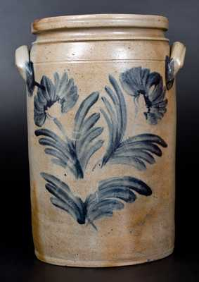 3 Gal. Baltimore Stoneware Jar w/ Floral Decoration