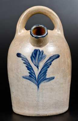 Rare Philadelphia Stoneware Harvest Jug w/ Cobalt Floral Decoration