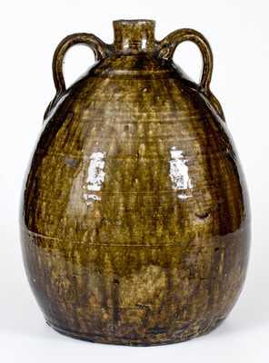Very Fine CJB, Columbus Jackson Becham, Crawford Co, GA Double-Handled Stoneware Jug