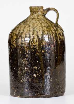 Rare 1/2 Gal. JY (James Yaughn, Crawford County, Georgia) Stoneware Jug