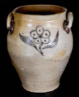 Rare Incised Stoneware Jar, attrib. Crolius Family, New York City, circa 1800