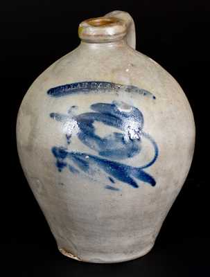 CHOLLAR, DARBY & CO. / HOMER, NY Stoneware Jug with Floral Decoration