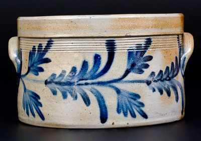 Philadelphia Stoneware Butter Crock w/ Fine Floral Decoration att. Henry Remmey, Jr.