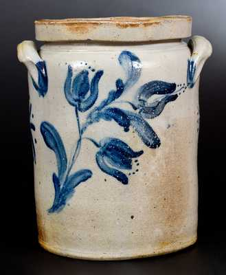 Very Fine JOHN BELL / WAYNESBORO 2 Gal. Stoneware Jar with Elaborate Decoration