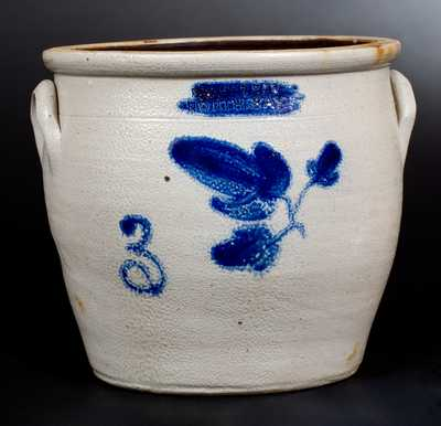3 Gal. E. H. FARRAR / NORTH BAY Stoneware Jar with Floral Decoration