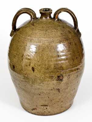 Monumental 7 Gal. Double-Handled Stoneware Jug, Crawford County, Georgia, circa 1840s