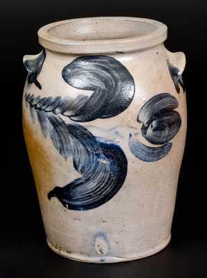 1 Gal. Baltimore Stoneware Jar w/ Floral Decoration, circa 1830