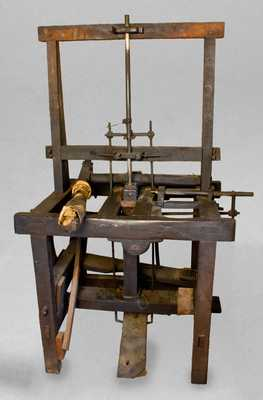Extremely Rare and Important Stoneware Pipe Press, Point Pleasant, Ohio, 19th century