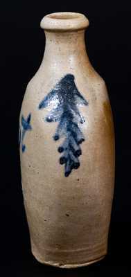 Fine Baltimore Stoneware Flask Inscribed