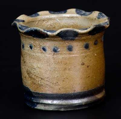 Very Fine Miniature Stoneware Jar att. Charles F. Decker, Chucky Valley, TN