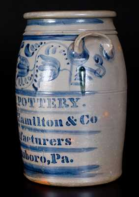 Outstanding EAGLE POTTERY / James Hamilton & Co. / Manufacturers / Greensboro, Pa. Jar