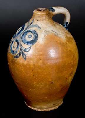 Exceptional Stoneware Jug w/ Impressed and Incised Decoration att. Clarkson Crolius, Manhattan