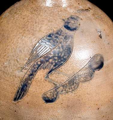 Extremely Rare and Important DAVID MORGAN / NEW YORK Incised Bird Jug
