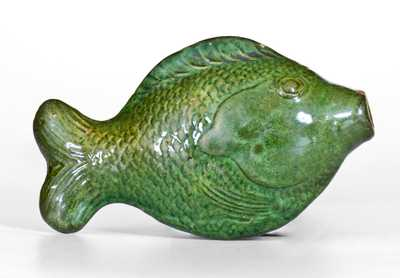 Moravian Redware Fish Bottle, Salem, North Carolina origin, c1801-1829