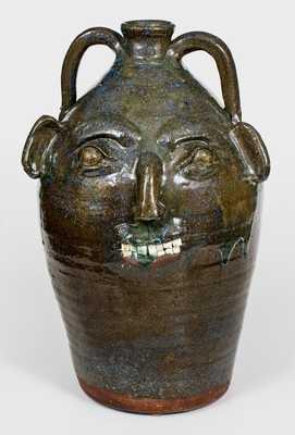 B.B. CRAIG / VALE, N.C. Oversized Stoneware Face Jug