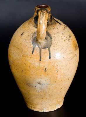 Very Rare New York City Stoneware Sunface Jug, early 19th century