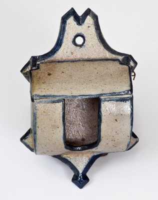 Very Rare Van Schoick & Dunn, Matawan, NJ Stoneware Match Safe, 1877