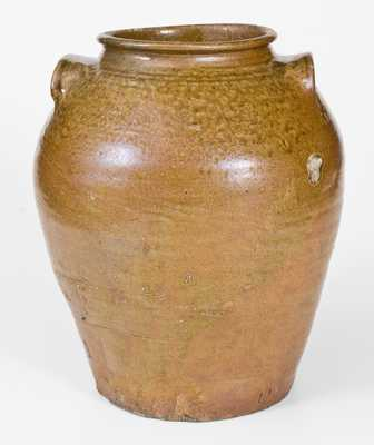 Fine Pottersville, Edgefield District, SC Alkaline-Glazed Stoneware Jar w/ Impressed Mark