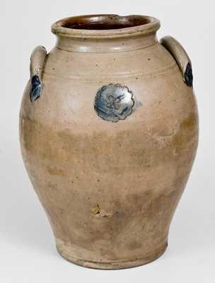 Ovoid Stoneware Jar with Impressed Decoration, Old Bridge, NJ