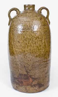 Five-Gallon Double-Handled Southern Stoneware Jug