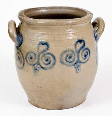 Very Fine att. Abraham Mead, Greenwich, CT Stoneware Jar, late 18th century