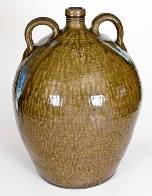 Very Rare and Important Ten-Gallon Daniel Seagle, Vale, Lincoln County, NC Stoneware Jug