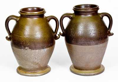 Rare Pair of Stoneware Vases, attributed to George Washington Dunn, Tennessee