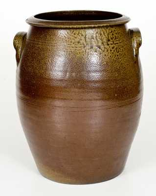 5 Gal. Stoneware Jar with Solomon Loy (Alamance County, NC) Family Provenance