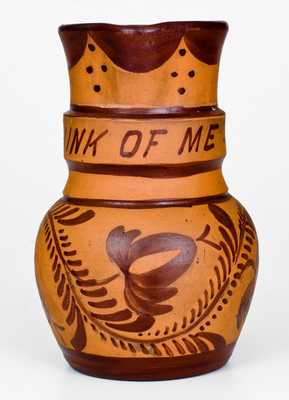 THINK OF ME Tanware Pitcher, Greensboro or New Geneva, PA