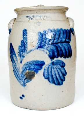 3 Gal. SIPE, NICHOLS & CO. / WILLIAMSPORT, PA Stoneware Lidded Jar with Bold Decoration