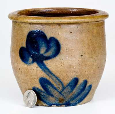 Small-Sized D. P. Shenfelder, Reading, PA, Stoneware Jar with Floral Decoration
