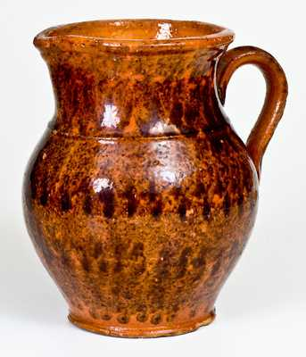 Glazed Redware Pitcher, probably Pennsylvania, second or third quarter 19th century