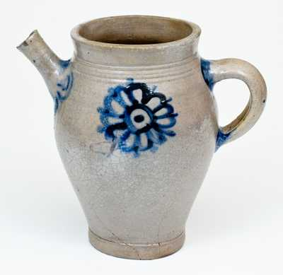 18th Century Crolius Family Stoneware Spouted Vessel, lower Manhattan / New York City