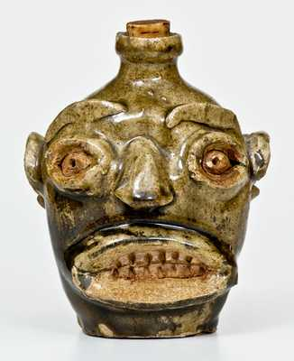 Rare and Important Edgefield, SC Stoneware Face Jug w/ Early Exhibition and Publication History