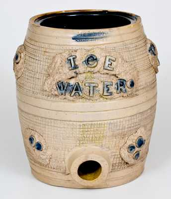 Extremely Rare SIPE & SONS / WILLIAMSPORT, PA Stoneware Ice Water Cooler