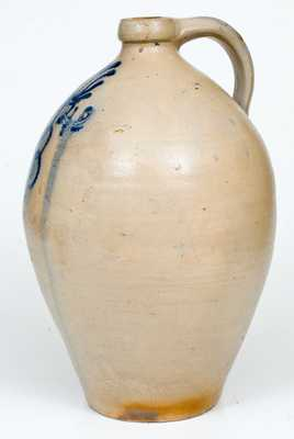3 Gal. Stoneware Jug Dated 1840, probably Norwich, Connecticut
