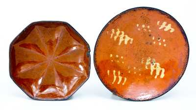 Lot of Two: Redware Plates incl. JOHN W. BELL / WAYNESBORO, PA Example