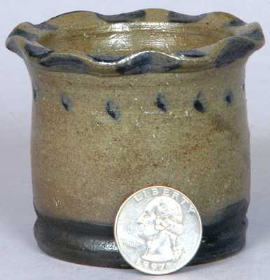 Probably Western PA Miniature Jar / Flowerpot