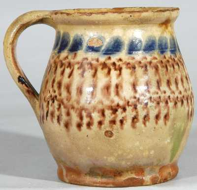 Redware Mug, attributed to John Bell, Chambersburg, PA