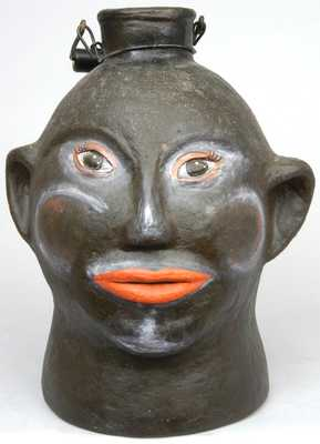 North Carolina Pottery Face Jug