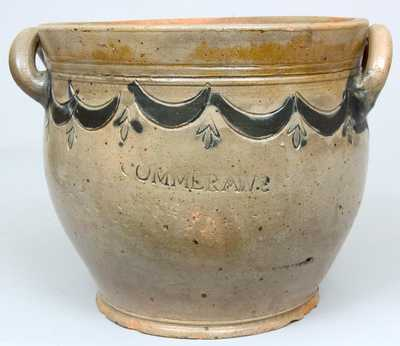 COMMERAWS, STONEWARE / N. YORK Stoneware Jar by Thomas Commeraw