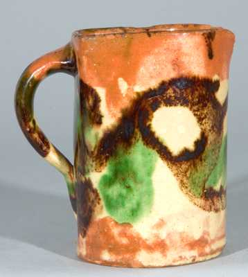 Eberly, Shenandoah Valley Multi-Glazed Redware Pitcher