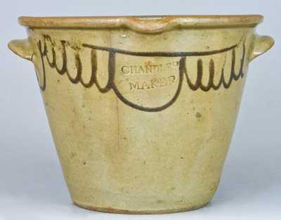 CHANDLER MAKER, Edgefield, SC Alkaline-Glazed Stoneware Milkpan