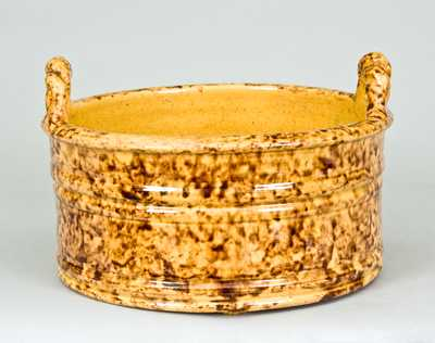 JOHN BELL Redware Butter Tub (Waynesboro, PA)